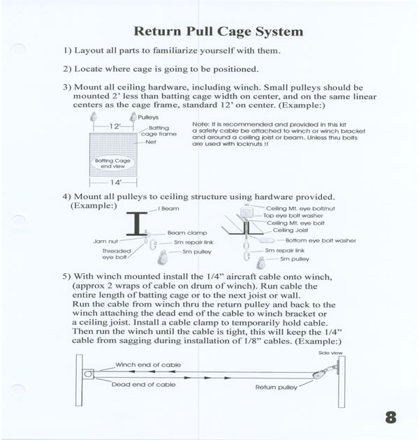 Return Pulley System: