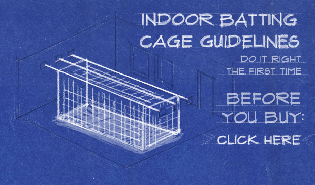 Before you buy an indoor batting cage, consider your space.