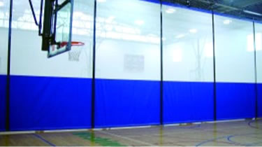 Gym Divider Curtain Installation