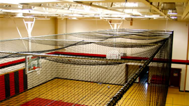 Indoor Batting Cage Installation