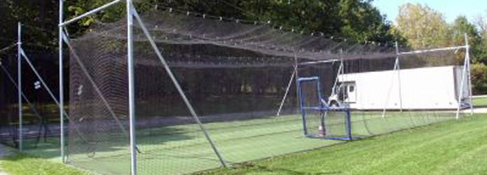 In-Ground Batting Cage Frames & Cages for Baseball ...