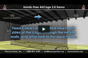 "Retractable Batting Cage Kit (Indoor ""Hands-Free"" Electric Batting Cage / AirCage 2.0)"