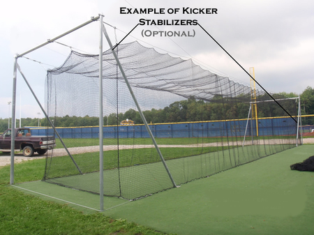Ncage 55 L Collegiate Batting Cage Frame 3 5 Quot Pipe