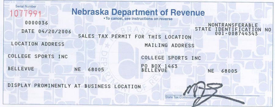 Look up the tax id number of a business