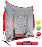 [Powernet - Soft-Toss Hitting Screen DLX 2.0 Bundle (with screen, target, 3 weighted balls & bag)]
