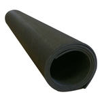 "[RB Rubber - Rubber Flooring Roll: 50'L x 4'W x 1/8"" (Black Color)]"