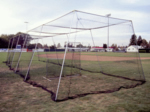 [CagesPlus - 40' Batting Cage Kit with L-Screen and #21 Nylon Netting]