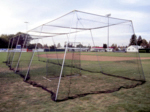 [CagesPlus - 60' Batting Cage Kit with L-Screen and #36 Nylon Netting]