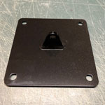 "[FlexPlate - 8"" x 8"" Steel Wall Anchor Plate w/single Terminal Point]"