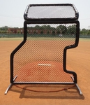 [Bullet - 7'W x 9H' L-Screen Baseball Screen Combo with Overhead Protector]