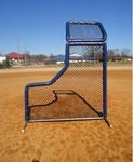 [Bullet - 7'W x 9H' L-Screen Baseball Screen with Overhead Protector]