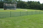 [GrandSlam - 4'H x 5 ft Pole Spacing - TEMPORARY / PORTABLE FENCING (DELUXE TEMPFENCE) (with poles & 4'H fence)]