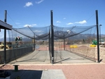 "[nCage - 70'L Pro Model Double-Lane Batting Cage Frame (In-Ground / 6-5/8"")]"