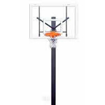 "[Gared  - Black Powder-Coated Endurance Playground System with 6' ext, 60"" Acrylic Backboard, and Endurance Breakaway Rim]"