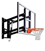 "[Goalsetter - Indoor Basketball Hoop - Wall-Mount with 72"" Glass Backboard]"
