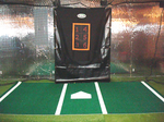 [Turf360 - 12'W Full Plate Turf Stance Mat (with Inlaid Batter's Box & Painted Home-Plate) - POLY TURF]
