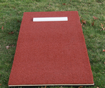 "[ProMounds - Junior ProMound with Turf: 6'4""L x 30""'W x 6""H - Clay Color]"
