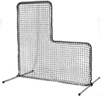 [FlexCages - 7' x 7' Pitcher's L-Screen Frame with #36 Pillow-case Nylon Net]