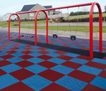 "[RB Rubber - Bounce Back® 24"" x 24"" Safety Playground Surface 10' Fall Protection]"